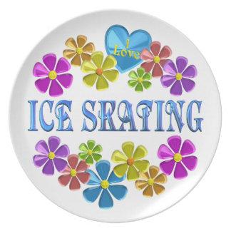 I Love Ice Skating Melamine Plate
