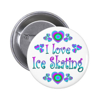I Love Ice Skating Pinback Button