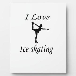 I Love Ice-skating Plaque