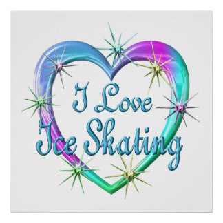 I Love Ice Skating Poster
