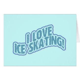 I Love Ice Skating T-shirts and Gifts Cards