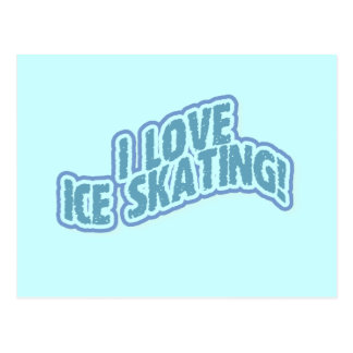 I Love Ice Skating T-shirts and Gifts Postcard