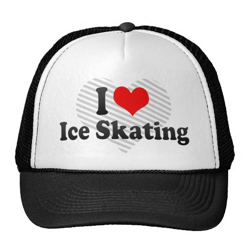 I love Ice Skating Trucker Hats
