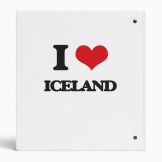 I Love Iceland Vinyl Binder