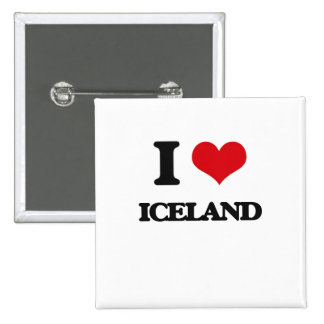 I Love Iceland Buttons