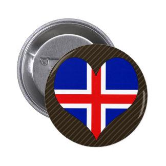 I Love Iceland Pin