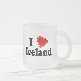 I Love Iceland Frosted Glass Coffee Mug