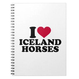 I love Iceland horses Spiral Notebook