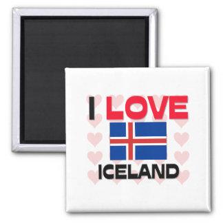 I Love Iceland Fridge Magnet