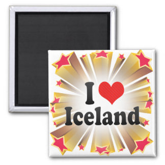 I Love Iceland Fridge Magnets