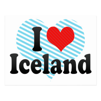 I Love Iceland Postcard