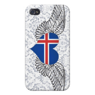 I Love Iceland -wings Cases For iPhone 4