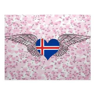 I Love Iceland -wings Postcard