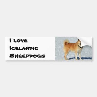 I love Icelandic Sheepdogs Bumper Sticker