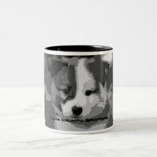 I love Icelandic Sheepdogs… Two-Tone Coffee Mug