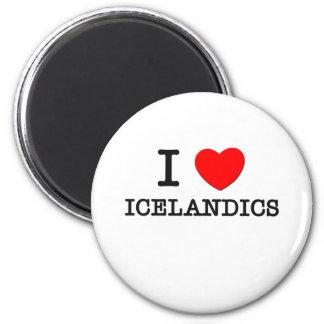 I Love Icelandics (Horses) Fridge Magnet