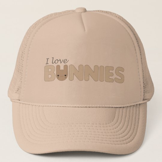 I Love Ickle Brown Bunnies Hat