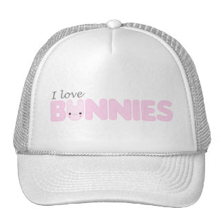 I Love Ickle Pink Bunnies Hat