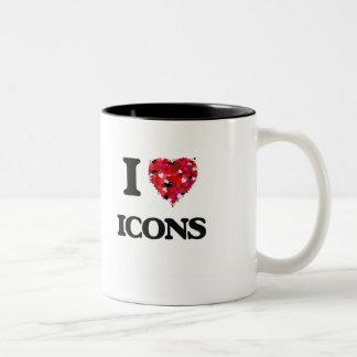 I Love Icons Two-Tone Coffee Mug