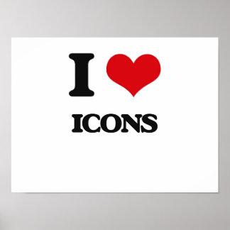 I love Icons Print