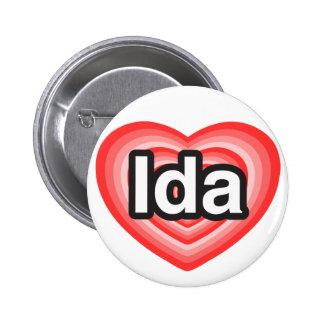 I love Ida. I love you Ida. Heart Button