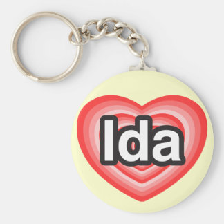 I love Ida. I love you Ida. Heart Keychain