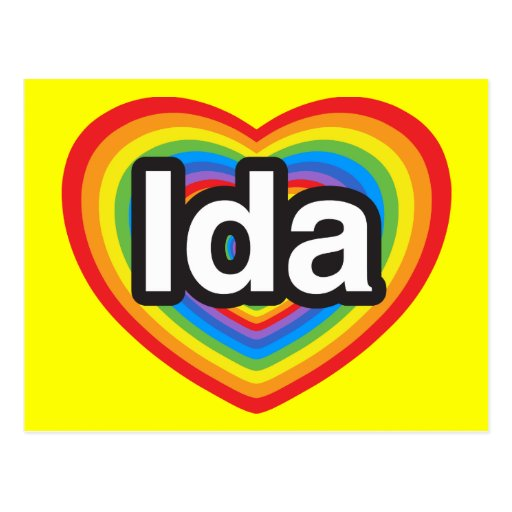 I love Ida. I love you Ida. Heart Post Cards