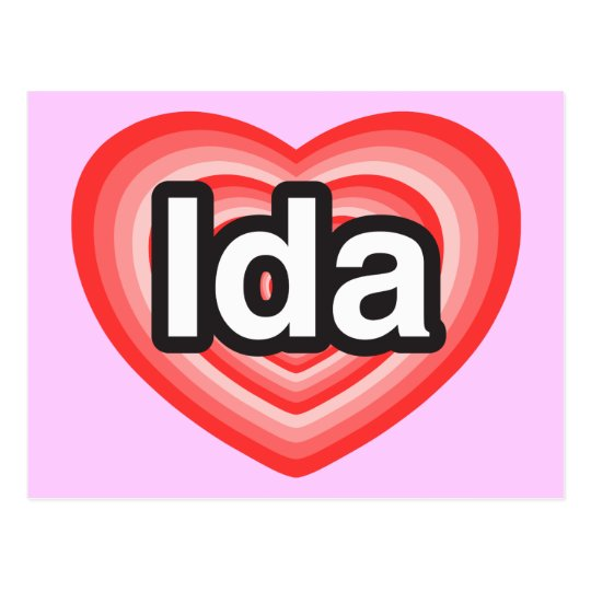 I love Ida. I love you Ida. Heart Postcard