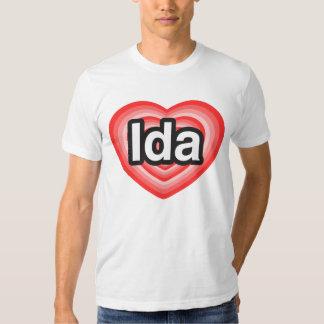 I love Ida. I love you Ida. Heart Shirt