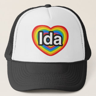 I love Ida. I love you Ida. Heart Trucker Hat