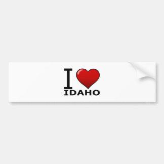 I LOVE IDAHO CAR BUMPER STICKER