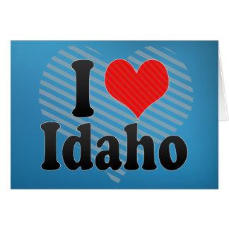 I Love  Idaho Card