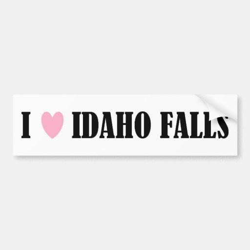 I LOVE IDAHO FALLS BUMPER STICKER