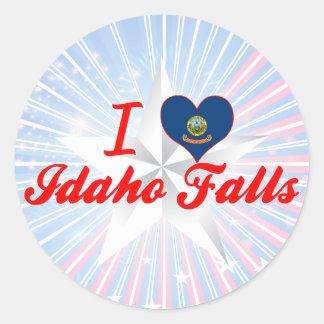 I Love Idaho Falls, Idaho Round Sticker