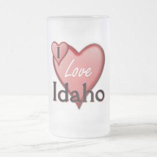 I Love Idaho Frosted Glass Beer Mug