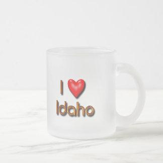 I Love Idaho Frosted Glass Coffee Mug