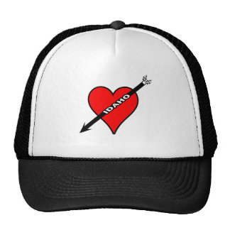 I Love Idaho Heart Mesh Hats