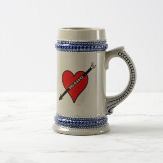 I Love Idaho Heart Mugs