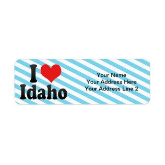 I Love  Idaho Label