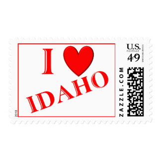 I Love Idaho Postage Stamps