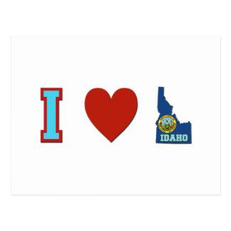 I Love Idaho Postcard