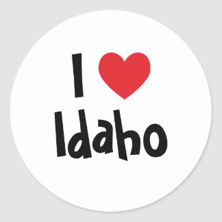 I Love Idaho Round Sticker