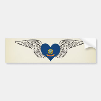 I Love Idaho -wings Car Bumper Sticker