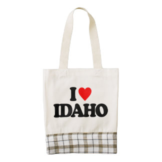 I LOVE IDAHO ZAZZLE HEART TOTE BAG