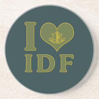 I Love IDF - Israel Defense Forces Beverage Coaster