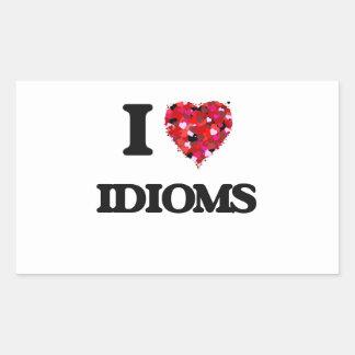 I Love Idioms Rectangular Sticker