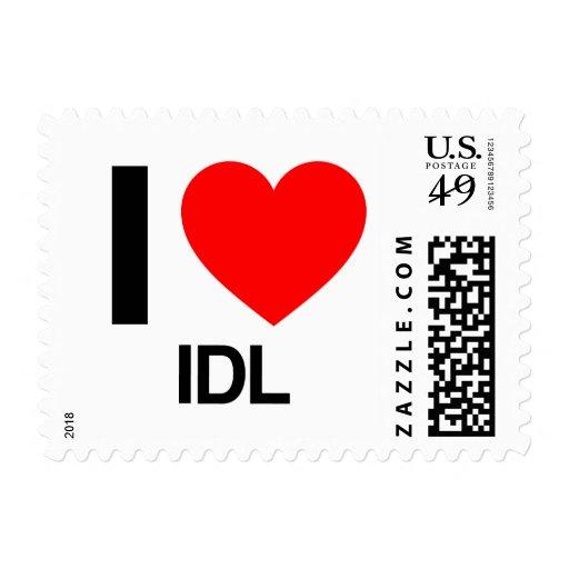 i love IDL Postage Stamps