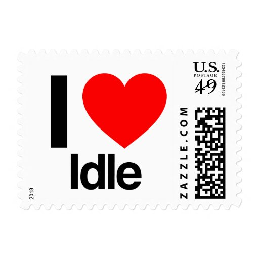 i love idle postage stamps