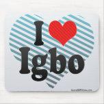 I Love Igbo Mousepads