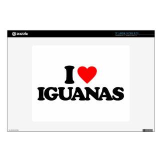 "I LOVE IGUANAS 12"" LAPTOP DECAL"